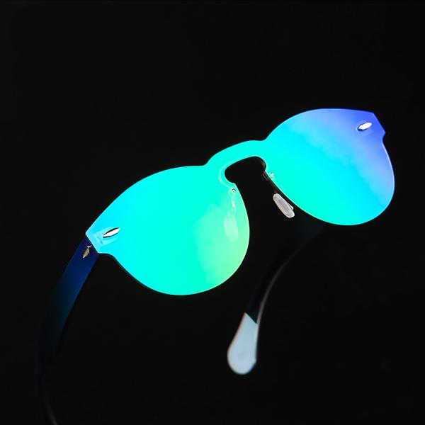 Modelo Retro De Gafas CoolSocool Shop Espejo Verde Sol OTPikuXZ
